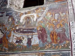 Fresko im Sumela Kloster