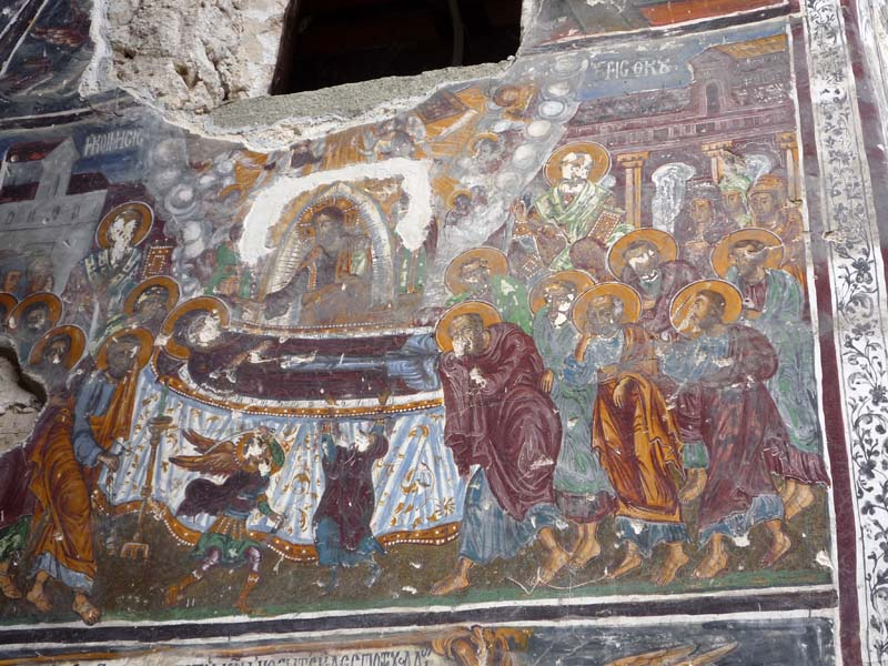 Fresko im Sumela Kloster in Ostanatolien