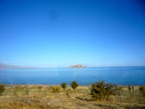 Blick auf den Van-See in Ostanatolien