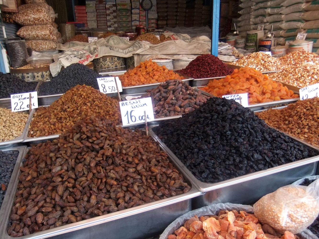 Markt in Ankara's Altstadt.