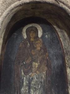 Wandmalerei in der Klosteranlage Eski Gümüs
