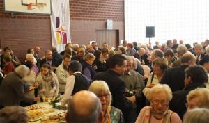Buffet am Fest der Seelsorgeeinheit Mannheim Nord