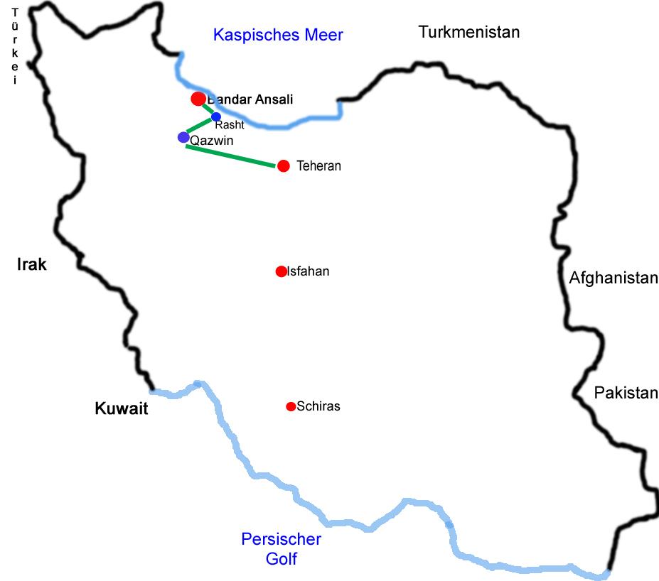 Iran 1. Strecke