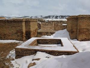 Die Ruinen von Takht-e Soleymann