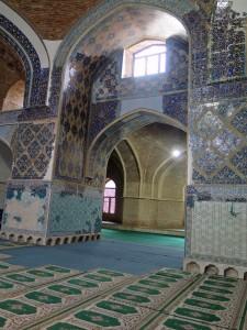Blaue Moschee in Täbirs - innen